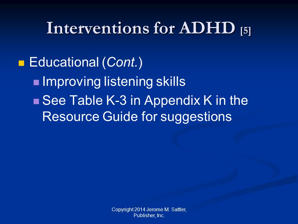 Interventions for ADHD [5]